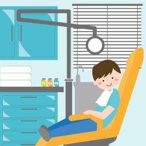Enfant en consultation chez le dentiste