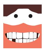 Visage sans dents