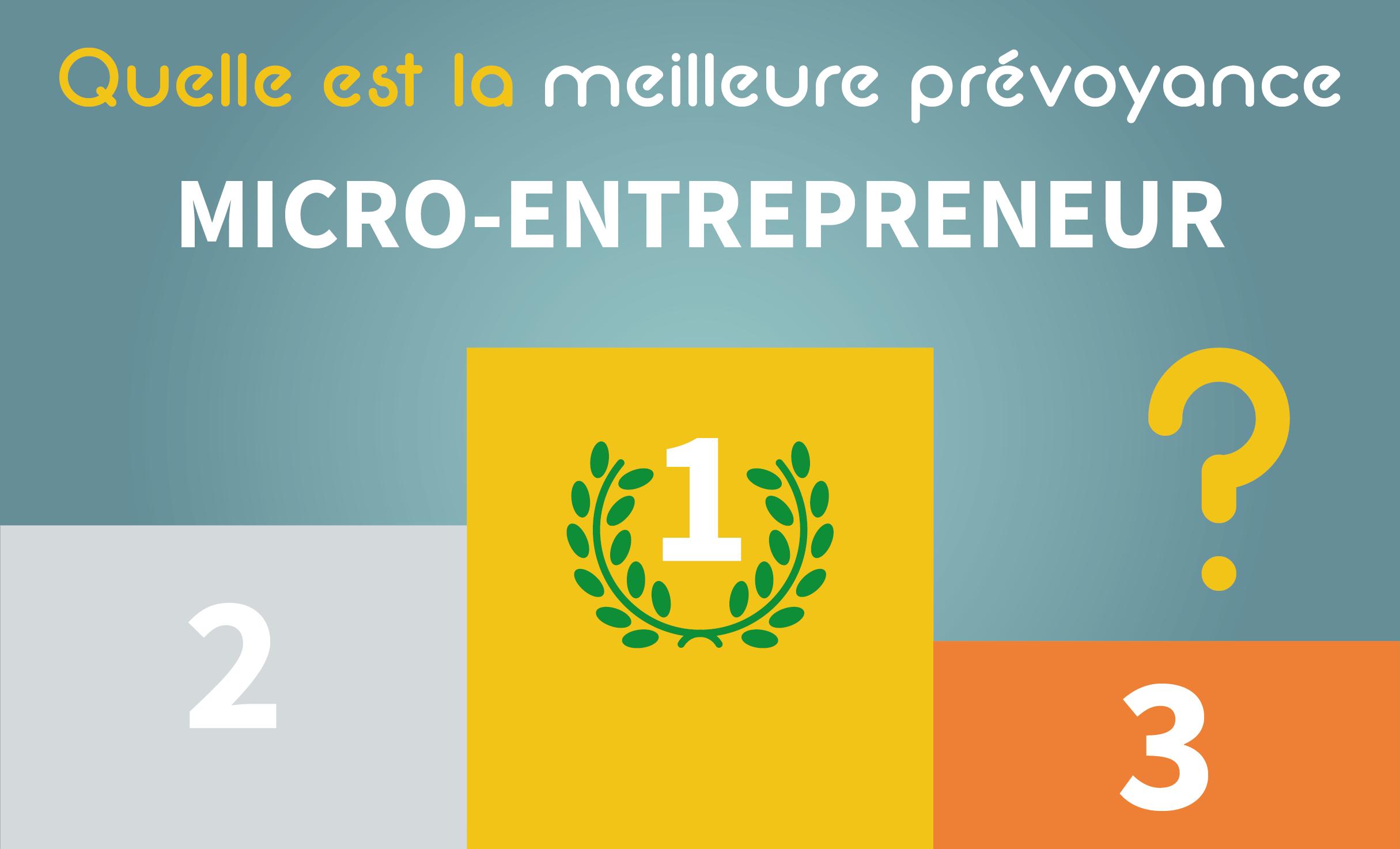 classement meilleures prévoyances micro-entrepreneurs